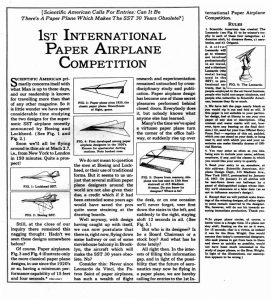 copywriting conference Copy Cabana Howard Gossage and The 1st International Paper Airplane Competition ad for Scientific American.