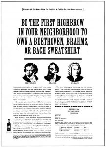Gossage Beethoven Sweatshirt Advert copywriting conference Copy Cabana