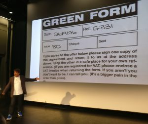 Nick Parker Viz Green Form Copywriting Conference Copy Cabana
